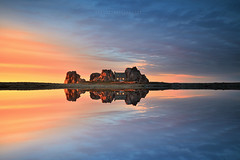 Little Fortress (FredConcha) Tags: fortress rock house sunset bretagne finistere lac fredconcha nikon d800 lee longexposure landscape nature light red