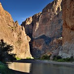 Rio Grande Surrounded by the 1200 Foot Walls of the Boquillas Canyon (Big Bend National Park) thumbnail