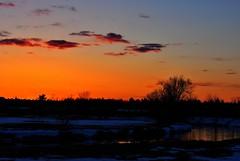 Saint-Gilles-de-Lotbinière (jimmy.richard79) Tags: saintgillesdelotbinière chaudiereappalache sunset soleil sun river rivière campagne farm nuage cloud snow neige saintgilles melting fonte coucher hdr