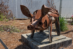 Rusty Porky - 042018-112130 (Glenn Anderson.) Tags: scrapiron steel art sculpture pig porky whimsical