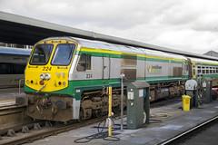 Irish Rail 224 'River Feale', Dublin Heuston, March 2018 (Rochdale 235) Tags: 201class 224 riverfeale irish ireland iarnrodeireann dublin heuston station diesel locomotive loco