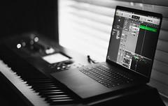 Soundtrack Writing (theelectricmango) Tags: macbook pro touchbar audio soundtrack piano music creation bokeh technology apple nikon d610 85mm series k film making computer logic montage