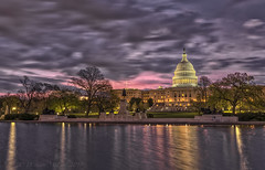 US Capitol Dawn 042418 (D. Scott McLeod) Tags: uscapitol dawn longexposure colorfulsky washingtondc capitoldome dc reflections dscottmcleod scottmcleod