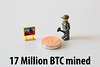 17 Million Bitcoin were mined today (wuestenigel) Tags: business geschäft toy spielzeug noperson keineperson text conceptual konzeptionell sign schild people menschen symbol child kind man mann money geld illustration paper papier commerce handel achievement leistung desktop office büro technology technologie finance finanzen education bildung