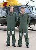 TRH Prince William and Prince Harry pose in front of a Griffin helicopter during a photocall at RAF Shawbury on June 18, 2009 in Shawbury, England. (Photo by Chris Jackson/Getty Images)