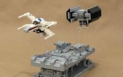 Trench Run (JK Brickworks) Tags: lego starwars trenchrun deathstar xwing tiefighter