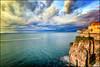 Sorrento (Gio_ guarda_le_stelle) Tags: seaside seascape sunset italy sorrento sea water mare golfo napoli cielo sky clouds nuvole