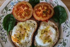 Today's Sunday brekky (idunbarreid) Tags: breakfast eggs tomatoes spinach