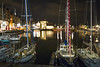 """La Lieutenance throws coloured blocks onto black waters of the Vieux Bassin, amid the yachts and night lights of Honfleur, Calvados, Normandy, France (grumpybaldprof) Tags: honfleur normandy normandie france calvados """"vieuxbassin"""" """"oldharbour"""" """"quaistecatherine"""" """"quaiquarantaine"""" quai """"quaistetienne"""" """"stecatherine"""" """"lalieutenance"""" quarantaine water boats sails ships harbour historic old ancient monument picturesque restaurants bars town port colour lights reflection architecture buildings mooring sailing stone collombage halftimbered yachts carousel merrygoround reflections """"waterreflections """"wetreflections"""" funfair """"eglisesaintecatherine"""" """"églisesaintétienne"""" yacht voillier night dark nocturne canon 70d """"canon70d"""" sigma 1020 1020mm f456 """"sigma1020mmf456dchsm"""" """"wideangle"""" ultrawide"""