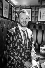 S and I Christmas dinner (Gary Kinsman) Tags: london se1 morelondon londonbridge people person bw flash blackwhite christmasdinner christmasparty workchristmasparty pose posed 2017 ballsbrothershaysgalleria ballsbrothers haysgalleria bar pub restaurant