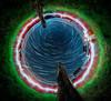 Time Dilation 1 (gerlos) Tags: night startrail sky astronomy light painting fisheye