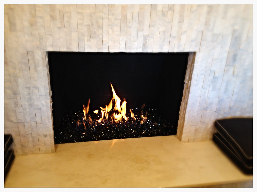 Fire Glass Fireplace. Chattanooga, Tn.