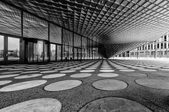 Futurium (Leipzig_trifft_Wien) Tags: berlin deutschland architecture monochrome modern contemporary black white contrast form circle square glass wideangle canon pixoom berlinforyou