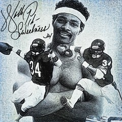 57 - Walter Payton (Bob Smerecki) Tags: smackman snapnpiks robert bob smerecki sports art digital artwork paintings illustrations graphics oils pastels pencil sketchings drawings virtual painter 6 watercolors smart photo editor colorization akvis sketch drawing concept designs gmx photopainter 28 draw hollywood walk fame high contrast images movie stars signatures autographs portraits people celebrities vintage today metamorphasis 002 abstract melting canvas baseball cards picture collage jixipix fauvism infrared photography colors negative color palette seeds university michigan football ncaa mosaic