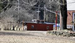 Brockway, Pennsylvania (3 of 3) (Bob McGilvray Jr.) Tags: brockway pennsylvania caboose wood wooden cupola grounded red rot rotting bo baltimoreohio brp buffalorochesterpittsburgh yard private railroad train tracks
