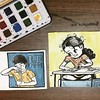 Watercolors are awesome! 😊 #dailydrawing #art #illustration #sketchbook #watercolor #coffee #stories #life #india (lipuster) Tags: childhood life kids india innocence stories art illustration sketch drawing
