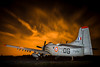 Heaven's on fire (hepic.se) Tags: heaven fire douglas skyraider sky nightsky night nightphotography nightclouds longexposure dramatic light lightpainting ain chad belgium aircraft airforce airplane aviation flying france french weapon warbird