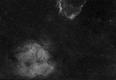 Elephant's trunk nebula and part of Bat nebula (MaGeOl) Tags: nebula astrophoto astrophotography astronomy stars space sky star telescope filters dust hydrogen qhy ha ic texture monochrome elephant trunk astrometrydotnet:id=nova2505651 astrometrydotnet:status=solved