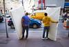 Spazieren in Wien (MichaelGubi) Tags: wien reinprechtsdorferstrase 1050 margareten gelb blau ampel verkehr