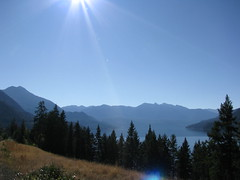 Slocan Lake on a halcyon day (Danny Lane Anderson) Tags: british columbia lake forest blue sunny clear mountains canada west kootenay slocan new denver
