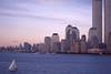 NYC c.1997-2001 09 (David Pirmann) Tags: nyc newyorkcity foundphoto hudsonriver harbor sailboat worldtradecenter wtc twintowers worldfinancialcenter wfc skyline sunset