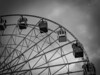 Ferris wheel of Almaty (Petri Juhana) Tags: ferris wheel amusement almaty kazakstan bw monochrome lumix