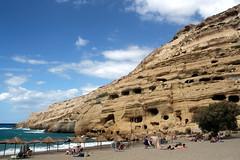 The Cliffs Of Matala (Alan1954) Tags: matala crete cliffs caves holiday 2017 plakias greece sea beach