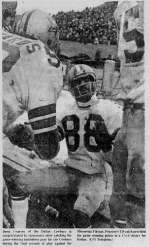 Drew Pearson after his Hail Mary Catch