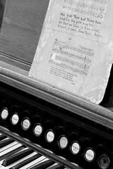 Pelee Island Organ (peterkelly) Tags: bw digital canon 6d peleeisland peleeislandheritagecentre ontario canada northamerica organ keys sheet music lyrics scale song