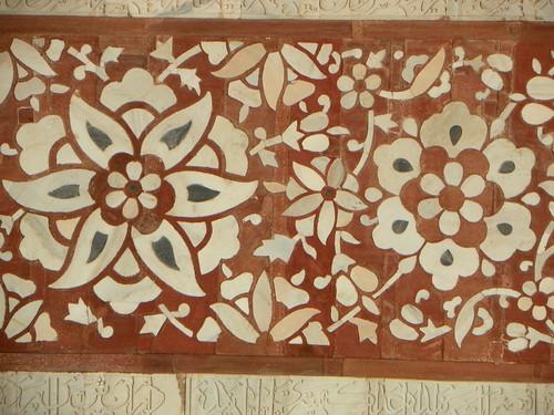 Agra 85 - Akbar's tomb detail