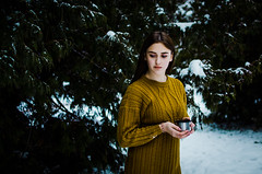 Daria Gladchenkova (ivan_volchek) Tags: outdoors people portrait tree nature daylight girl wear leisure relaxation light backlit christmastrees thermos snow pullover bracelet
