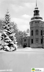 tm_7726 - Hellidens slott, Tidaholm (Tidaholms Museum) Tags: svartvit positiv slottsbyggnad vinter snö slottstorn
