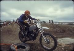 Bike races in Layfette (Bousquairol's Gallery) Tags: motorcycle race 1973 slide ektachrome diapo diapositive usa maico motocross moto
