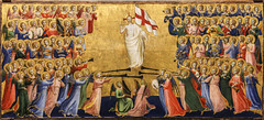 Thine be the Glory, Risen, Conquering Son! (Lawrence OP) Tags: london nationalgallery fraangelico angels heaven glory risen christ lord dominican organs resurrection banner