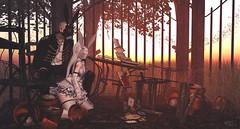 Sunset of the surreal. (Rosenrott Blackheart ☾) Tags: 3d couple lovers albine albino amistad female friend