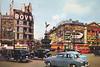 Piccadilly Circus: 1957 (Leonard Bentley) Tags: piccadillycircus shaftesburyavenue lowerregentstreet jarthurdixonltd postcard civilwarwestern drango iragrossel jeffchandler herniateddisc operation estherwilliams crossdresser hollywood ww2 london 1957 1999