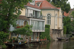 Riverside homes and the Small Synagogue (stephengg) Tags: erfurt germany thuringia river gera riverside home house small synagogue