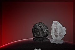 Venus and Mars (Kevin Rheese) Tags: salt pepper macromondays condiment venus mars opposite peppercorn rocksalt spice