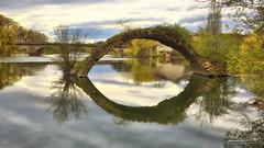 1B3A5325-Modifier (mg photographe) Tags: dôle jura doubs rivière pont arche bridge reflet paysage landscape