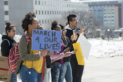 National School Walkout against gun violence (Fibonacci Blue) Tags: stpaul protest student rally nra demonstration gun event dissent shooting outcry school outrage twincities minnesota sign activist activism