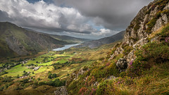 Sunshine valley... (Einir Wyn Leigh) Tags: landscape natural scenery wales clouds colorful flora foliage sky mountains lake water light sunlight beauty green weather outside walking shadow rocks