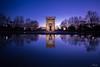 Templo de Debod (Madrid) (Aneiv) Tags: sonya6000 samyang12mm rokinon polarizer longexposure nd neutraldensity night light architecture egypt water reflection kood long exposure