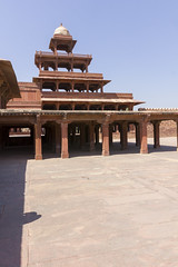Panch Mahal (Behind other building) (Mike Legend) Tags: india uttar pradesh fatehpur sikri panch five 5