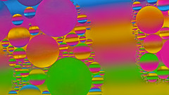 circles for MM (simo m.) Tags: macromonday circles abstract oil water colorful