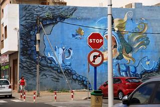 stop fish mural