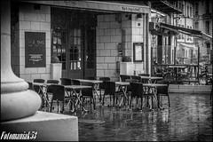 Jour de pluie 11/11 (Fotomaniak 53) Tags: terrasse pluie hdr nb noir et blanc