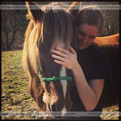 The Bonded Pair (ficktionphotography) Tags: horse adotpedhorse person horseandhuman equine friendships trust
