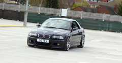BMW E46 M3 CONVERTIBLE CARBON BLACK SMG (Cliff Judson) Tags: coilovers hsdcoilovers blue bkack carbon carbonblack cars car german up set swuare squaresetup style67 67 style top hard hardtop cabriolet convertible m3 e46 bmw