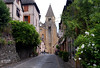 Iglesia abacial de Sainte-Foy / Conques / Aveyron (52) / França / France / Francia (Ull màgic (+1.500.000 views)) Tags: conques aveyron frança france francia romànic románico església iglesia torre campanar campanario edifici arquitectura carrer calle fuji xt1