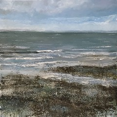 From Whiting Bay I - oil on canvas - available (www.sandragraham.co.uk) Tags: art artartworkartistartistscontemporaryartcollectorstreambrookburnwaterflowingnaturepaintingartistsimpastopainting arran whiting bay collector seascape scotland sea